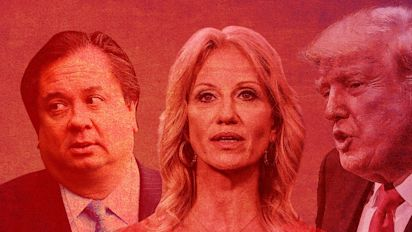 Kellyanne Conway defends Trump in feud with husband