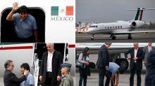 FOTOS | Así fue la llegada de Evo Morales a México