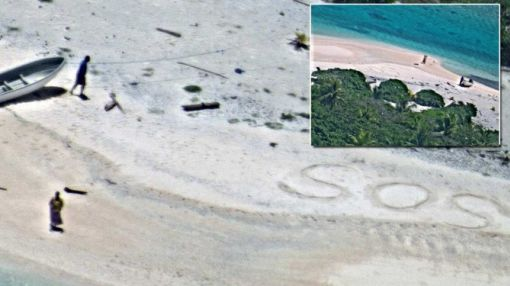 Stranded Sailors Saved Thanks To 'SOS' Message After Week on Desert Island