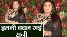 Deepika & Ranveer Reception: Rani Mukerji looks unrecognisable in her black sheer saree
