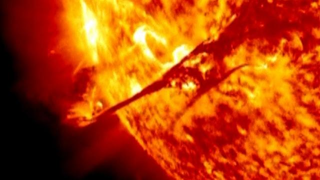 Massive solar flare spotted