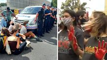 Protest erupts in Brisbane over woman's death in police custody
