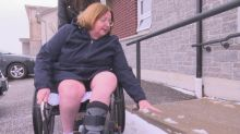 Winter has Windsor woman in wheelchair feeling 'stuck' in her own home