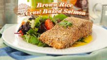 Brown Rice Crust Baked Salmon