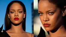 Rihanna skipped the American Music Awards, but showed up on Instagram rocking 'Stunna' red lips