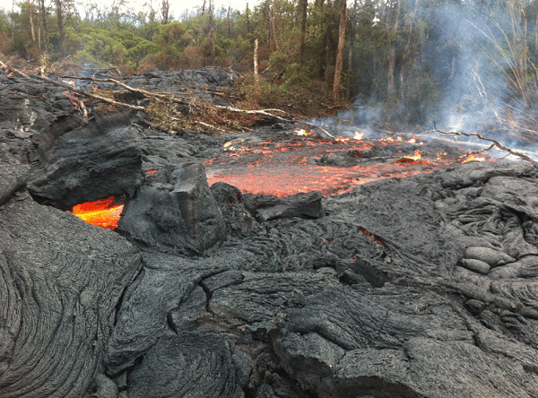 Hawaii volcano continues to spill lava out into the ocean.