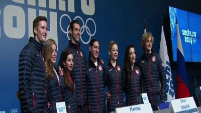 USA Figure Skaters Talk About Bronze Medal