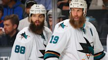 Watch Sharks stars Thornton, Burns in hilarious beard ad
