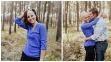 Woman celebrates alopecia in beautiful engagement shoot