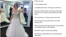 Man finds photo of late wife in dream wedding dress he never got to see her in