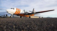 As jets take charge of fire-bombing missions, the 62-year-old piston-powered Tanker 60 takes its last flight over Oregon