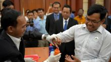 Cambodia accuses former opposition members of urging poll boycott