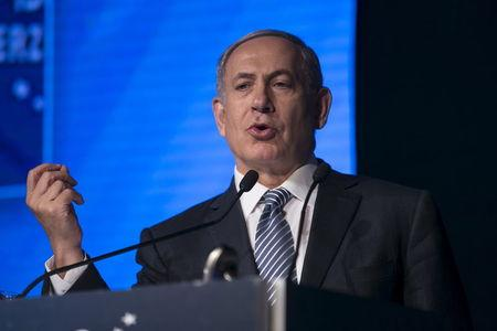 Israel's Prime Minister Benjamin Netanyahu speaks during the annual Herzliya conference in Herzliya near Tel Aviv, Israel June 9, 2015. REUTERS/Baz Ratner