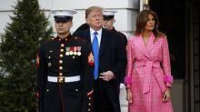 Melania Trumps pinker Fendi-Mantel sorgt für Aufruhr im Internet