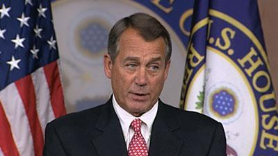 Boehner: Obama Ignoring Spending in 'cliff' Deal