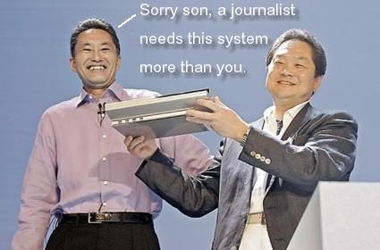 Journalist's kid gets a PS3, Sony boss's kid doesn't