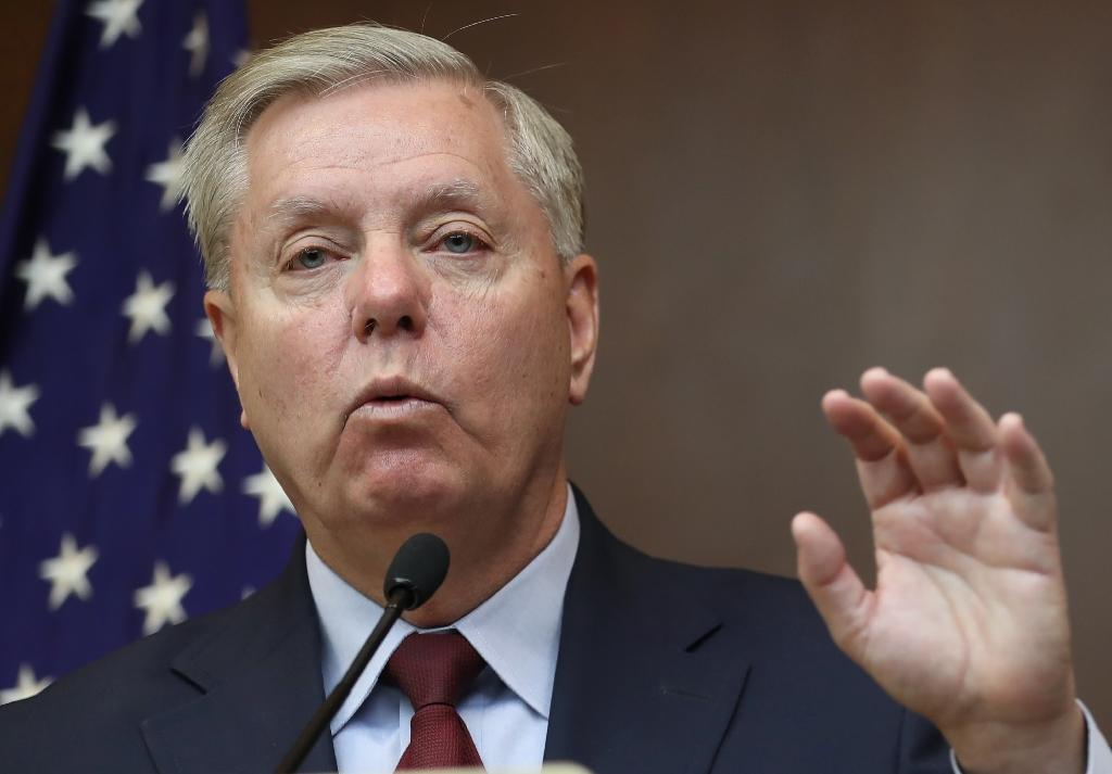 US Senator Lindsey Graham warned that thousands of Islamic State jihadists still 'lurk' in Syria (AFP Photo/Adem ALTAN)