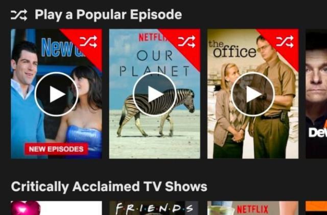Netflix experiments with a random play button