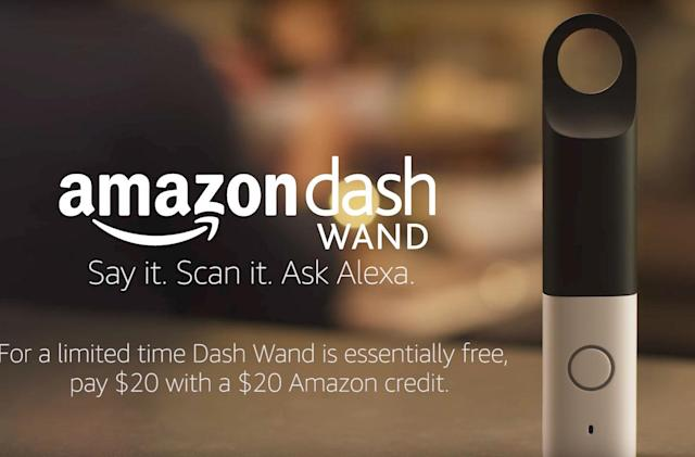 Amazon's Dash Wand lets you order groceries with your voice