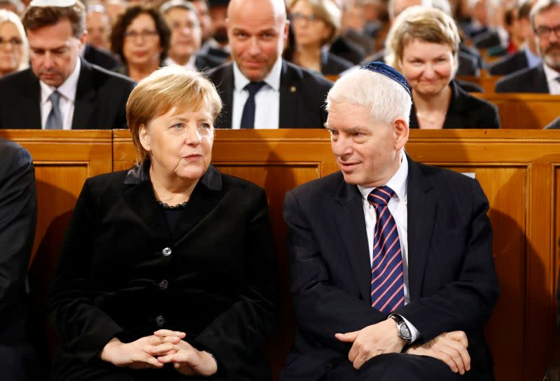 FILE PHOTO: Ceremony to mark the 80th anniversary of Kristallnacht, also known as Night of Broken Glass, in Berlin
