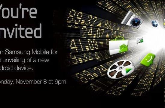 Samsung to unveil new Android device November 8th