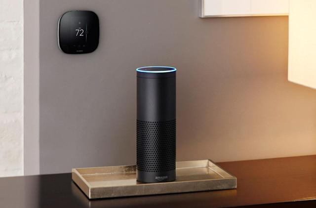 Amazon Echo starts talking to your thermostat