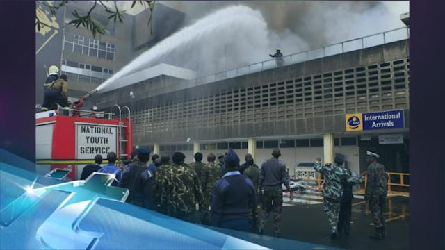 Massive fire closes Kenyan airport; flights rerouted
