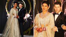 Priyanka Chopra changes into third lavish wedding dress for reception