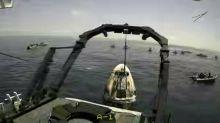 NASA and SpaceX Crews Retrieve Astronauts After Splashdown