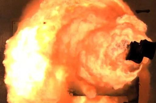 Navy test-fires weaponized railgun with explosive results (video)