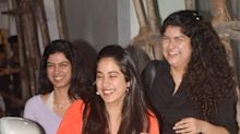 Kapoor sisters are happy girls at brother Arjun's movie screening