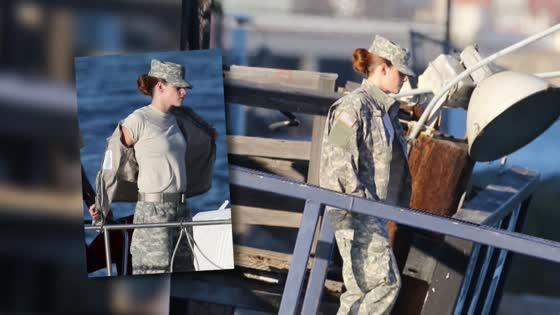 Kristen Stewart Reports For Duty on Camp X-Ray Set