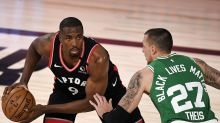 Raptors' Serge Ibaka dealing with ankle injury, uncertain for Game 6 vs. Celtics