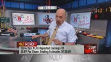 Cramer says shares of Alphabet and Amazon, his largest tr...