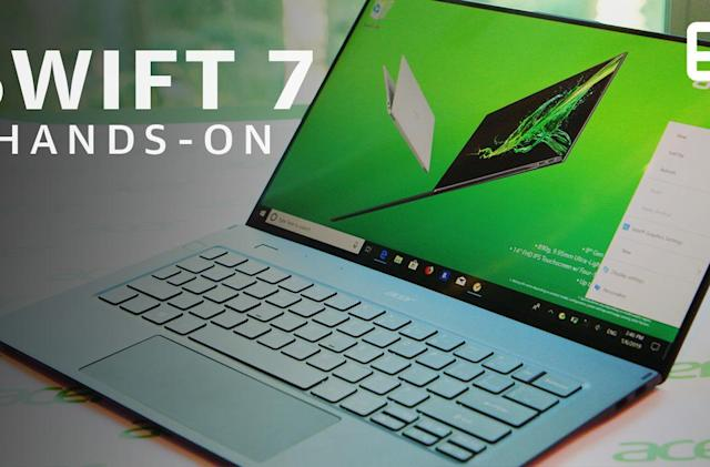 Acer's Swift 7 laptop feels almost impossibly tiny