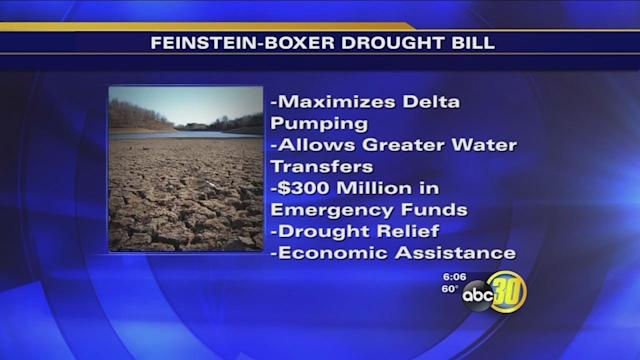 Feinstein and Boxer submit drought relief bill