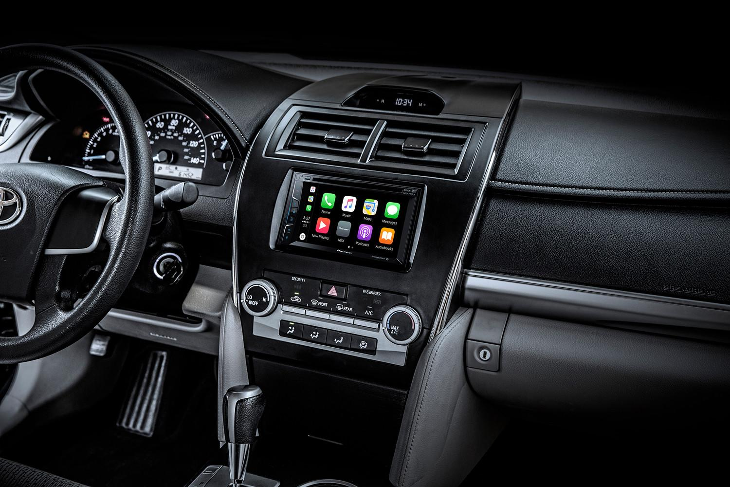pioneer 39 s latest in dash receivers bring carplay and. Black Bedroom Furniture Sets. Home Design Ideas