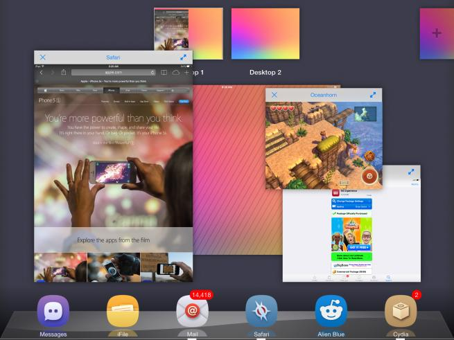 Awesome iOS jailbreak app brings OS X features to iPad