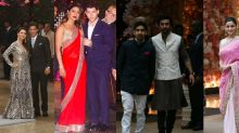 Pics: Alia, Ranbir, SRK, Priyanka and Nick at Akash-Shloka's party
