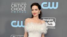 Angelina Jolie derrocha clase y elegancia en este escote de plumas