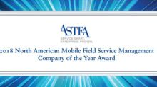 Astea International Earns Frost & Sullivan's 2018 Company of the Year Award in Mobile Field Service Management