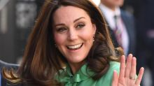 Kate Middleton stuns in a super chic mint green coat