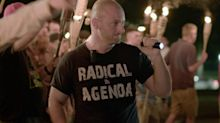 White nationalist from Charlottesville rally nicknamed 'Crying Nazi' is charged with threatening to rape a woman