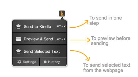 Send to Kindle comes to Chrome, Safari and Mozilla support promised 'soon'