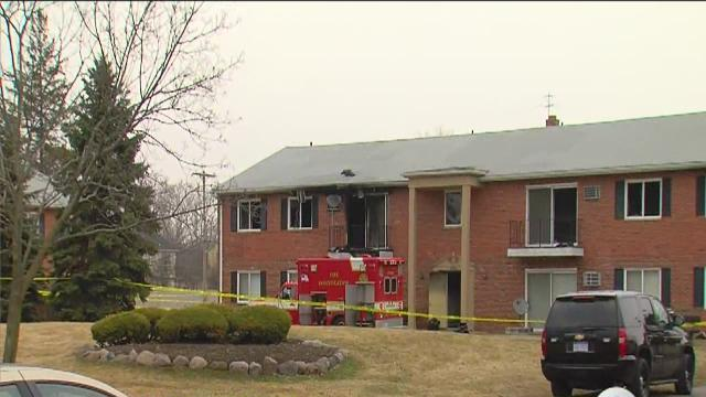 Fire at apartment complex in Livonia