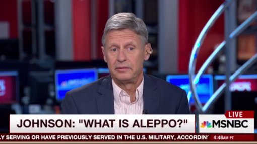 Libertarian candidate Gary Johnson: 'What is Aleppo?'