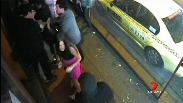 Vic bouncer floors woman