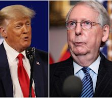 Trump spent several minutes insulting 'dumb son of a b---h' Mitch McConnell during a rambling speech to GOP donors at Mar-a-Lago, say reports