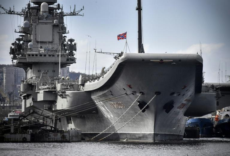 The carrier's latest accident, a fire below decks, occurred during a scheduled refit in Murmansk