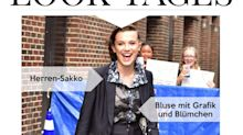 Look des Tages: Millie Bobby Brown mit Sakko und Shorts